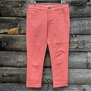 Vineyard Vines Coral Salmon Denim Crop Jeans
